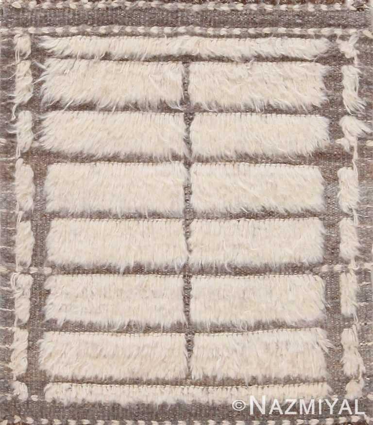 Modern High Low Pile Custom Boho Chic Rug Sample 60615 by Nazmiyal Antique Rugs