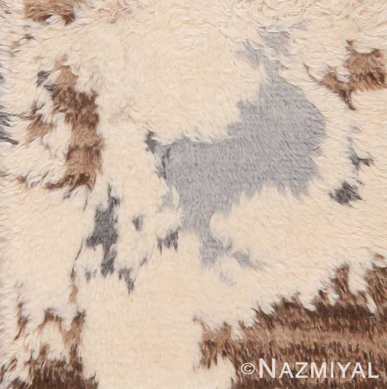 Modern Plush Custom Moroccan Rug Sample 60619 by Nazmiyal Antique Rugs