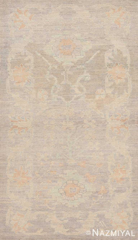 Modern Soft Neutral Turkish Oushak Custom Rug Sample #60578 by Nazmiyal Antique Rugs
