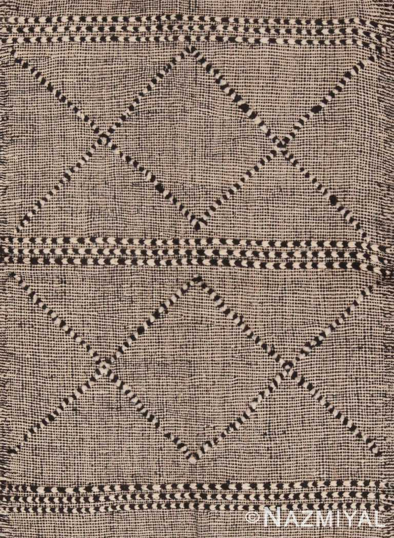 Modern Tribal Custom Flat Woven Moroccan Kilim Rug Sample 60650 by Nazmiyal Antique Rugs