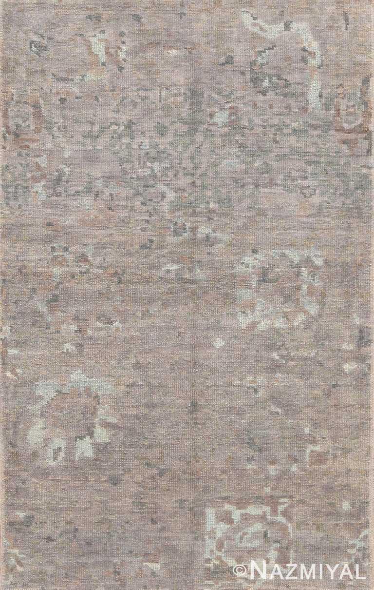 Neutral Grey Modern Turkish Oushak Bespoke Custom Rug Sample #60576 by Nazmiyal Antique Rugs