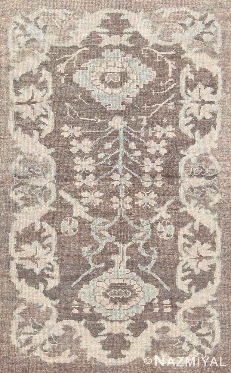 Neutral Tonal Bespoke Modern Turkish Oushak Custom Rug Sample #60580 by Nazmiyal Antique Rugs