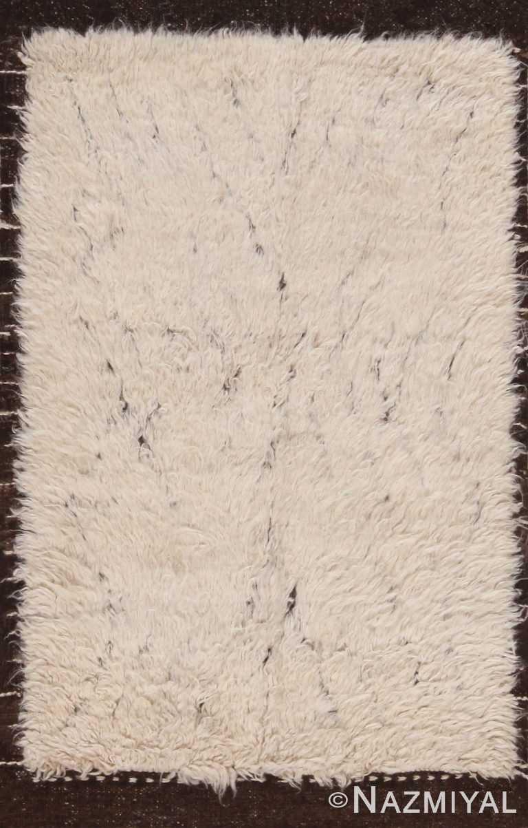 Plush Cream Custom Bespoke Bohemian Rug Sample 60638 by Nazmiyal Antique Rugs