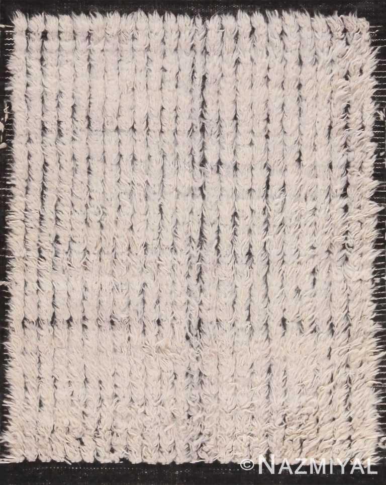 Plush Modern Bespoke Cream Bohemian Rug Sample 60642 by Nazmiyal Antique Rugs