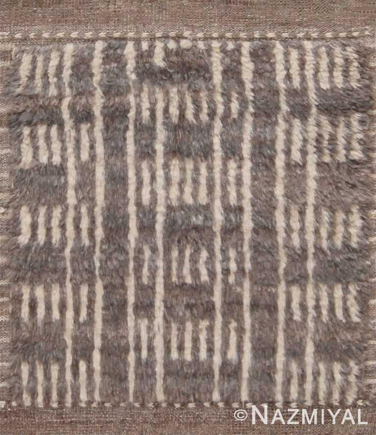 Plush Modern Bespoke Grey Bohemian Rug Sample 60643 by Nazmiyal Antique Rugs