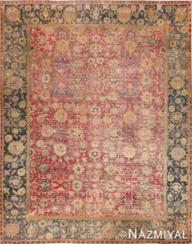 Rare Antique 18th Century Large Persian Isfahan Rug 70804 by Nazmiyal Antique Rugs