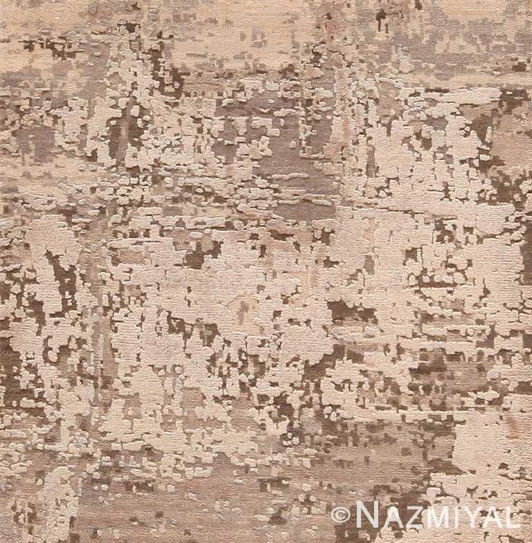 Silk and Wool Modern Textured Custom Rug Sample 60595 by Nazmiyal Antique Rugs