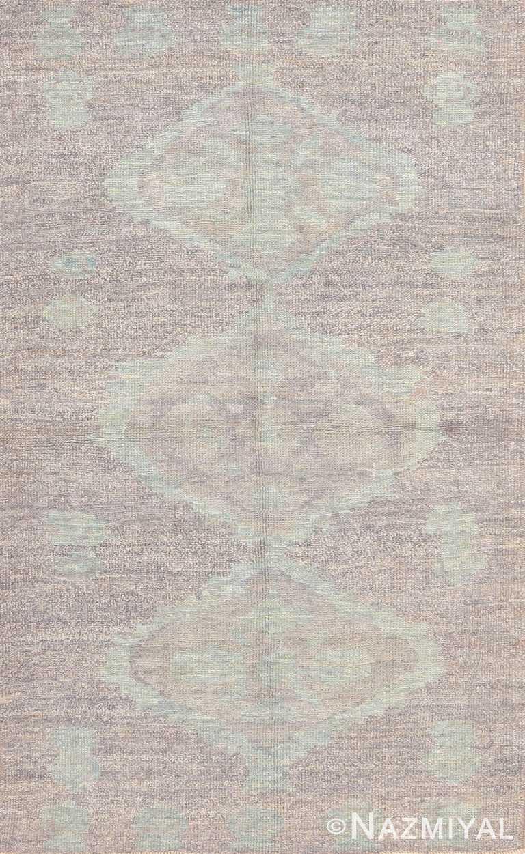 Soft Decorative Modern Bespoke Custom Turkish Oushak Rug Sample #60577 by Nazmiyal Antique Rugs