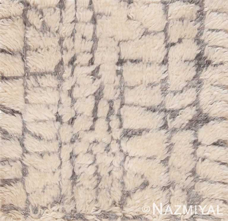 Soft Modern Plush Wool Pile Custom Moroccan Area Rug Sample 60653 by Nazmiyal Antique Rugs