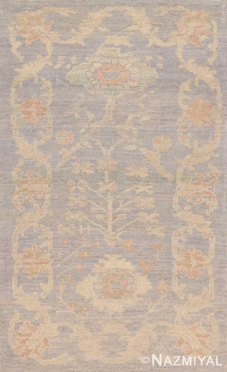 Soft Warm Custom Modern Turkish Oushak Bespoke Rug Sample #60581 by Nazmiyal Antique Rugs