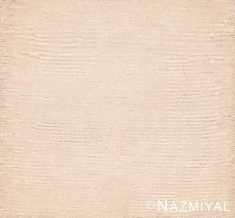 Solid Cream Color Custom Modern Area Rug Sample #60598 by Nazmiyal Antique Rugs