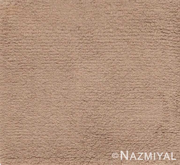 Solid Neutral Modern Area Rug Custom Sample 60601 by Nazmiyal Antique Rugs