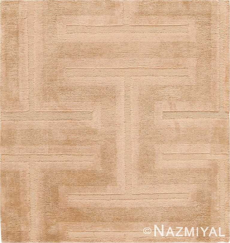 Textured Wool And Silk Custom Rug Sample 60606 by Nazmiyal Antique Rugs