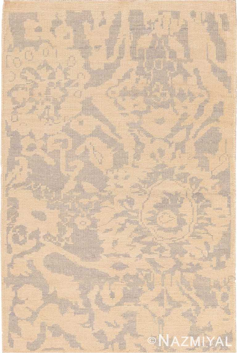 Washed Out Modern Custom Persian Sultanabad Rug Sample 60579 by Nazmiyal Antique Rugs