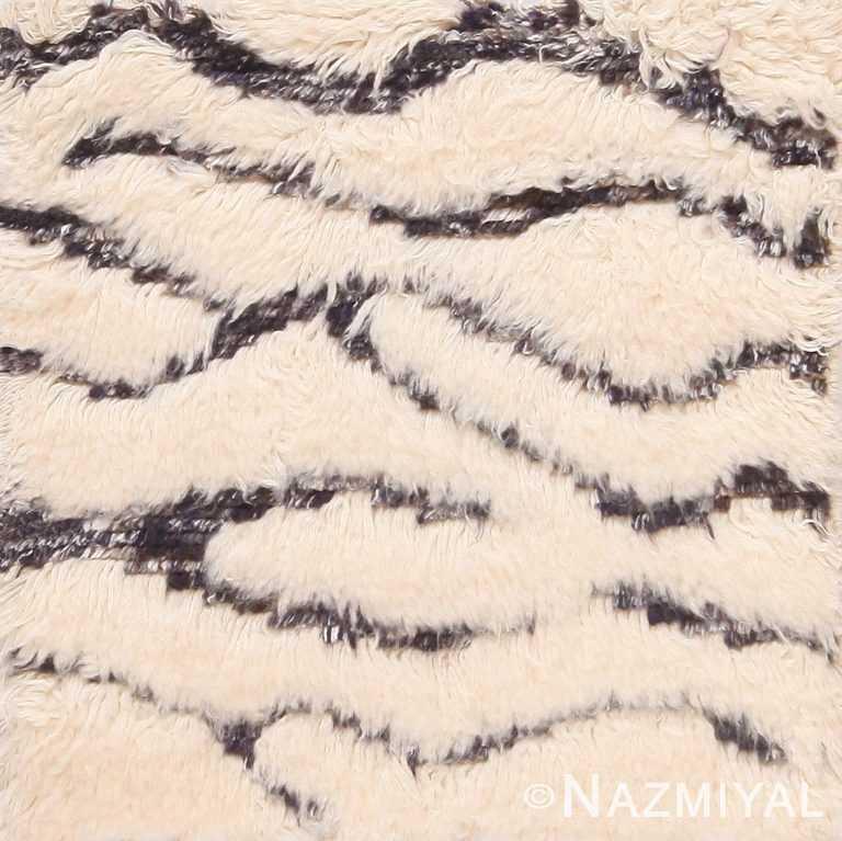 Wavy High Low Pile Modern Custom Moroccan Rug Sample 60614 by Nazmiyal Antique Rugs