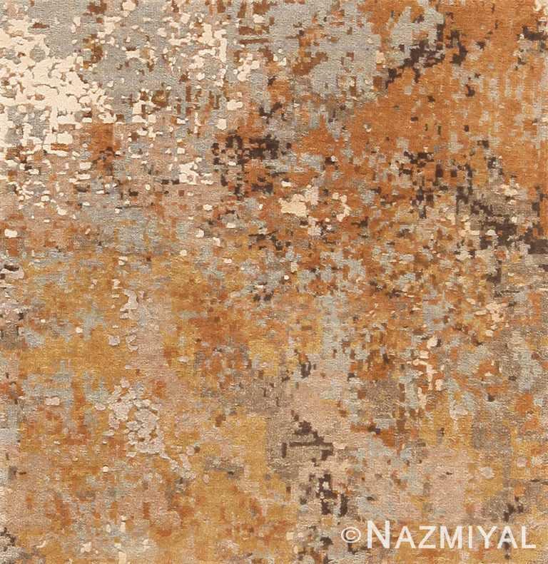 Wool and Silk Custom Textured Modern Rug Sample 60594 by Nazmiyal Antique Rugs