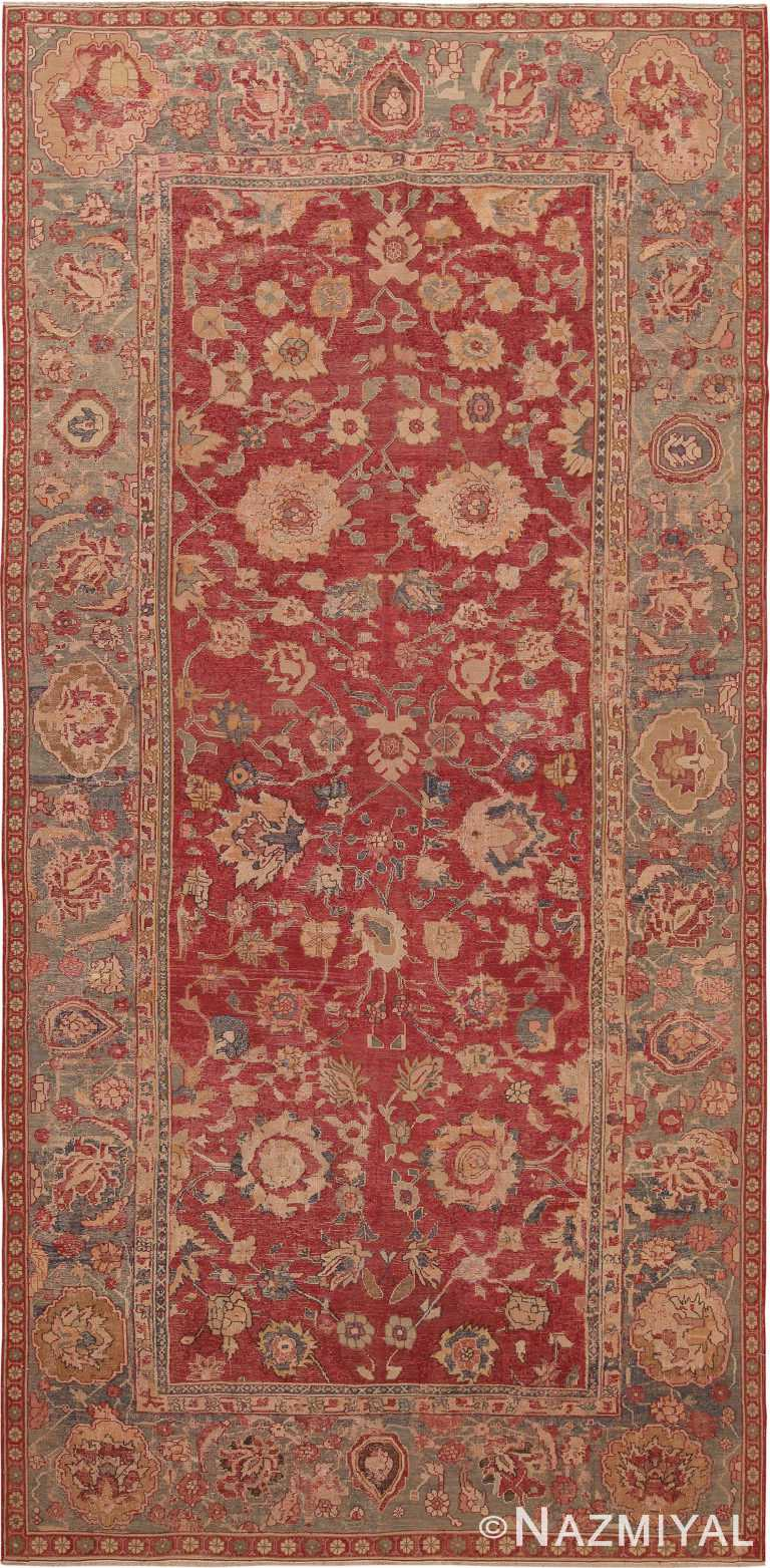 17th Century Antique Indian Mughal Gallery Size Rug 70052 by Nazmiyal NYC