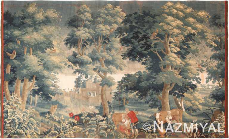 18th Century Silk And Wool Antique French Tapestry 70872 by Nazmiyal Antique Rugs