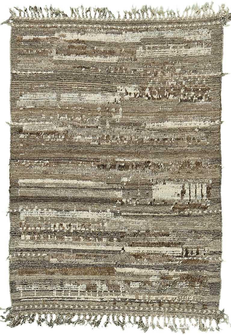 Brown Tones Modern Distressed Rug 60680 by Nazmiyal Antique Rugs