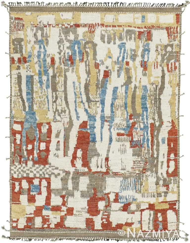 Colorful Modern Boho Chic Rug 60713 by Nazmiyal Antique Rugs