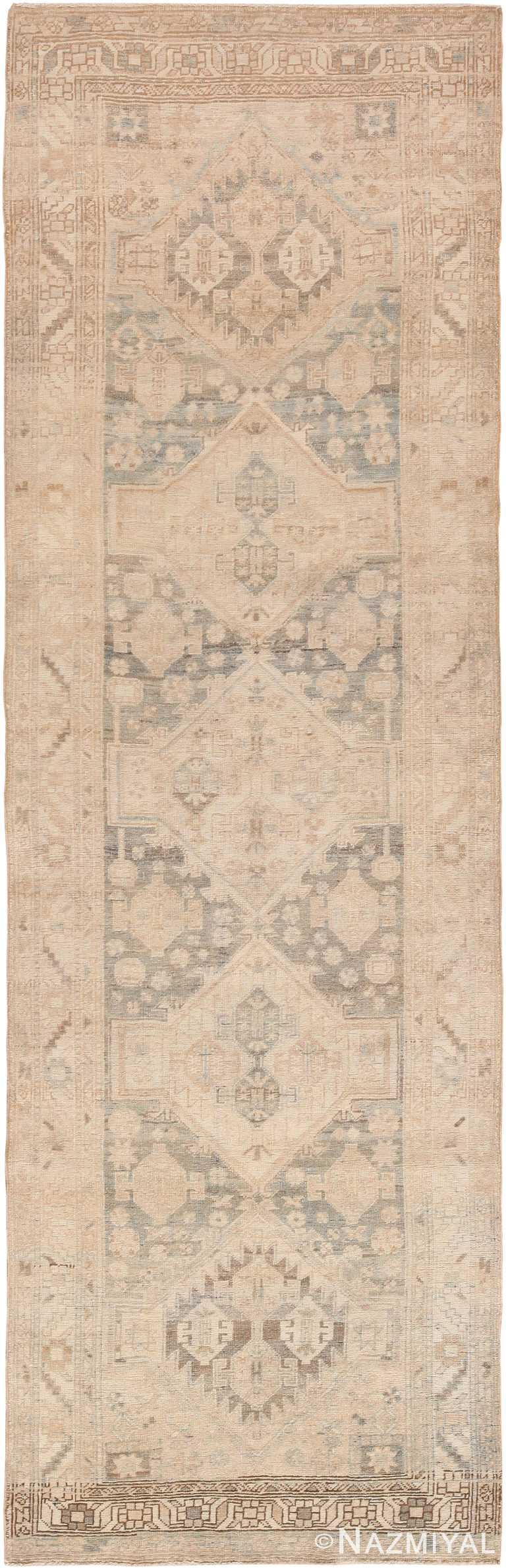Cream Antique Persian Bidjar Runner Rug 60528 by Nazmiyal Antique Rugs