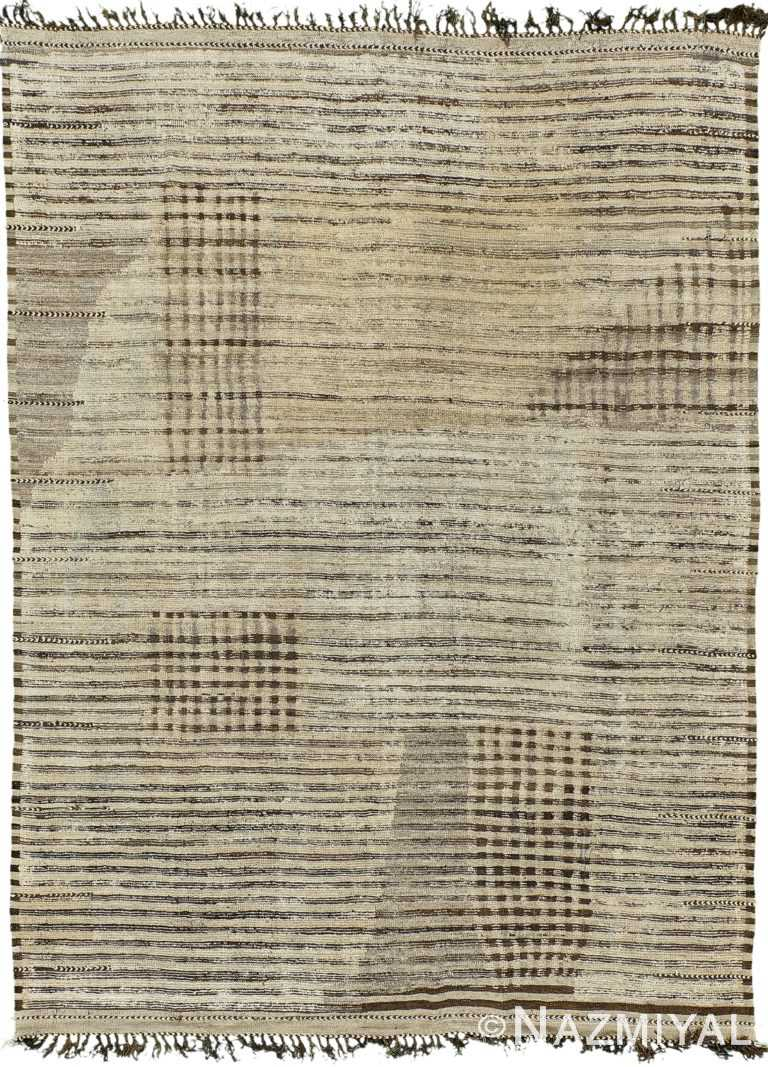 Decorative Modern Distressed Rug 60707 by Nazmiyal Antique Rugs