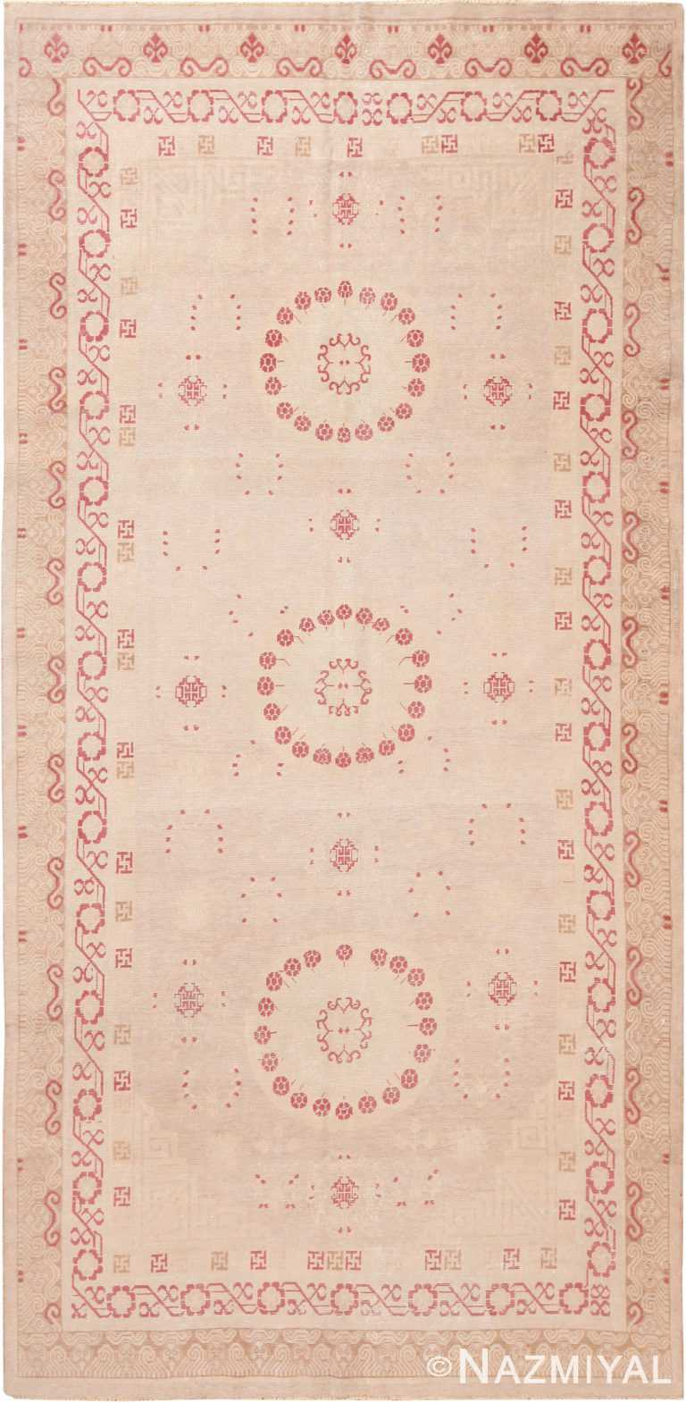 Gallery Size Decorative Antique Khotan Rug 42514 by Nazmiyal Antique Rugs