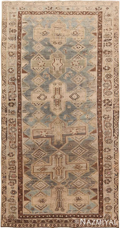 Gallery Size Geometric Persian Bidjar Rug 60531 by Nazmiyal NYC