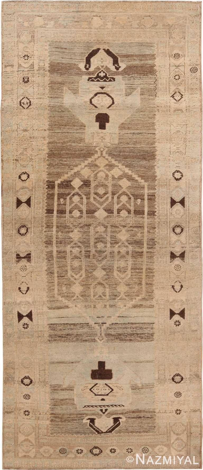 Geometric Antique Persian Bidjar Runner Rug 60527 by Nazmiyal Antique Rugs
