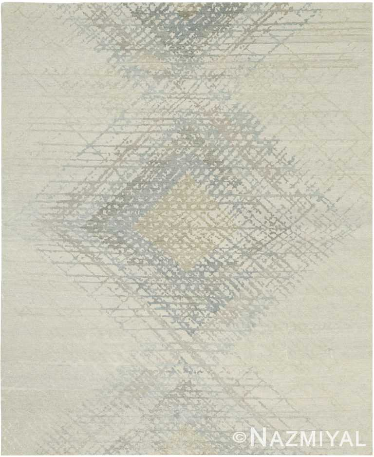 Geometric Cream Modern Boutique Rug 60735 by Nazmiyal Antique Rugs