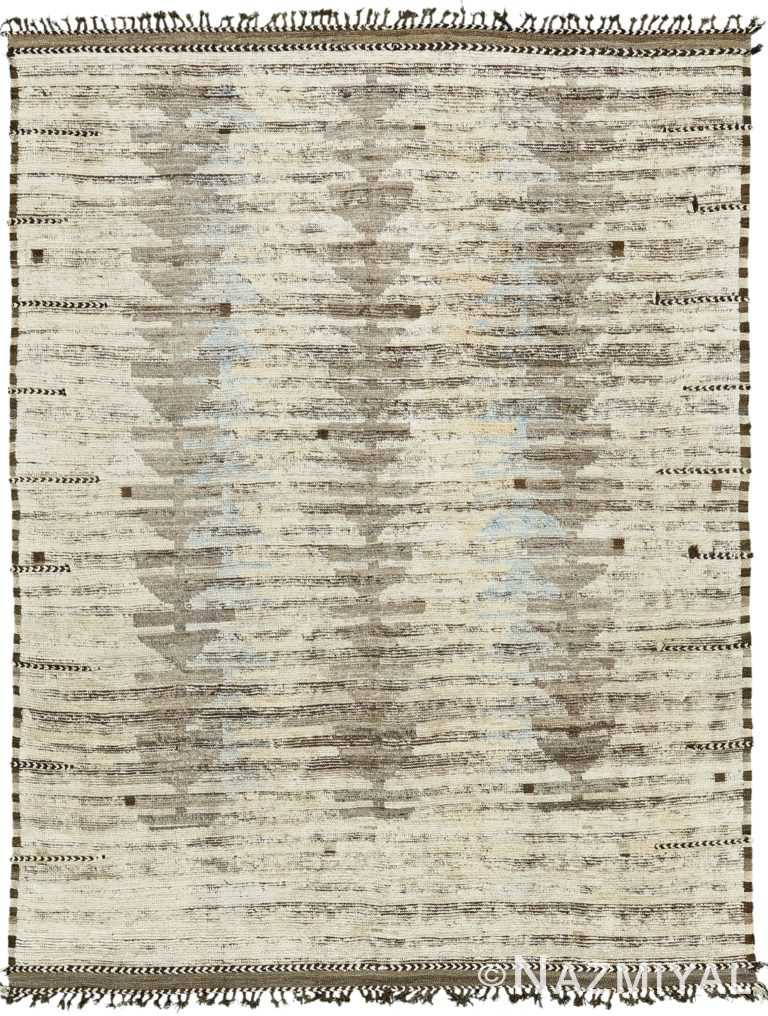 Light Gray Modern Distressed Rug 60689 by Nazmiyal Antique Rugs