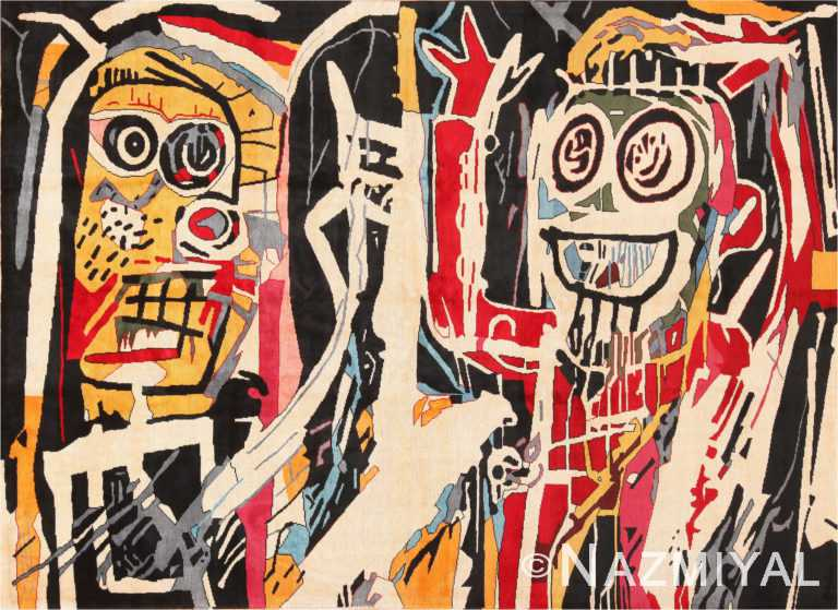 Modern Jean-Michel Basquiat Inspired Artistic Rug 70887 by Nazmiyal Antique Rugs