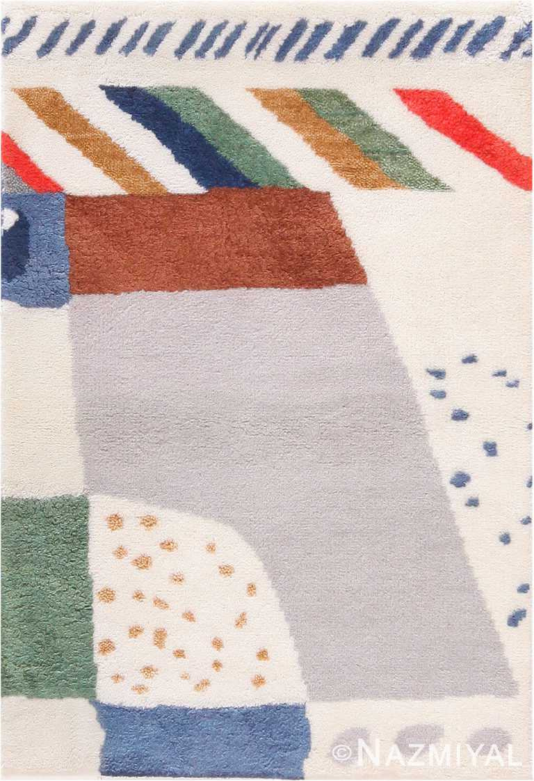 Scandinavian Josef Frank Inspired Custom Rug Sample 60664 by Nazmiyal Antique Rugs