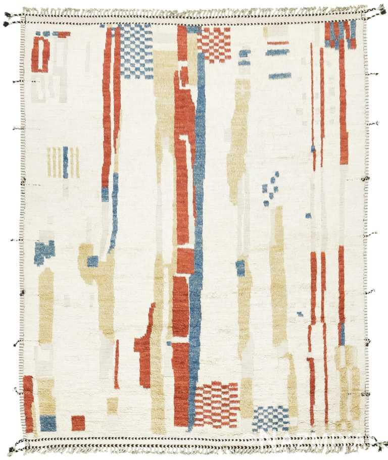 Shiny Design Modern Boho Chic Rug 60712 by Nazmiyal Antique Rugs