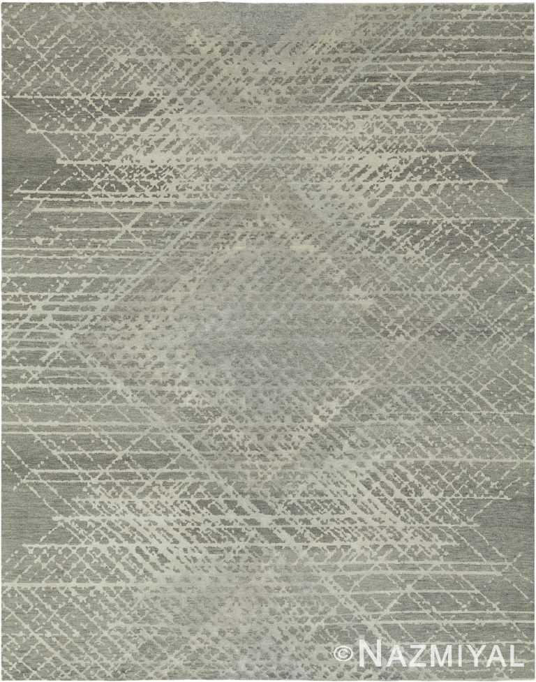 Silver Cream Modern Boutique Area Rug 60734 by Nazmiyal Antique Rugs