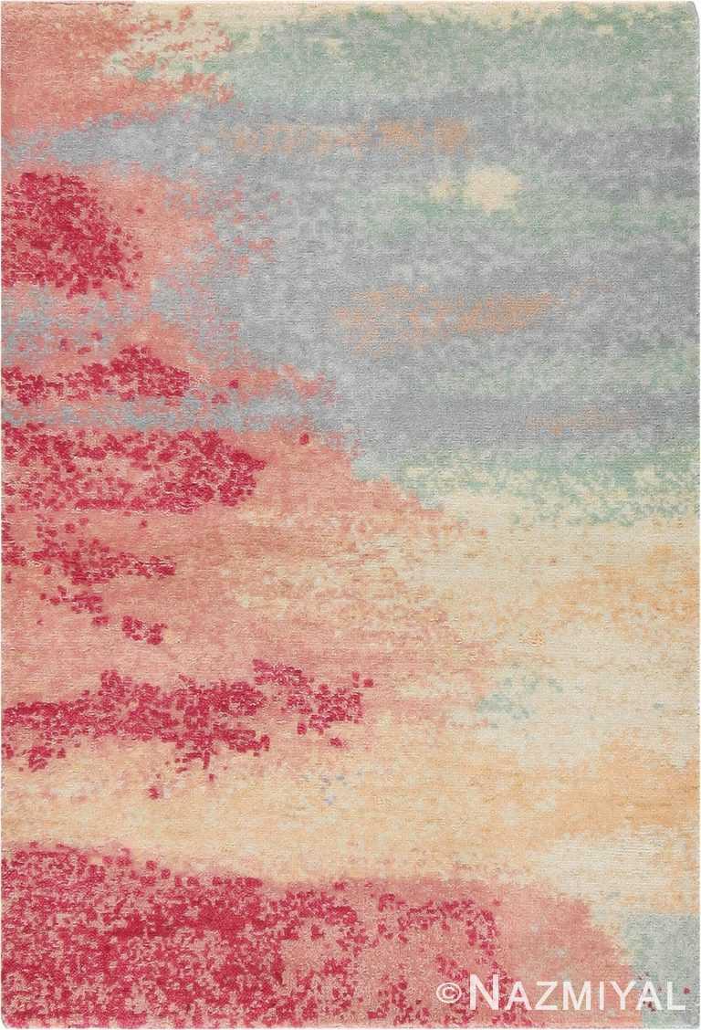 Textured Silk And Wool Custom Rug Sample 60659 by Nazmiyal Antique Rugs