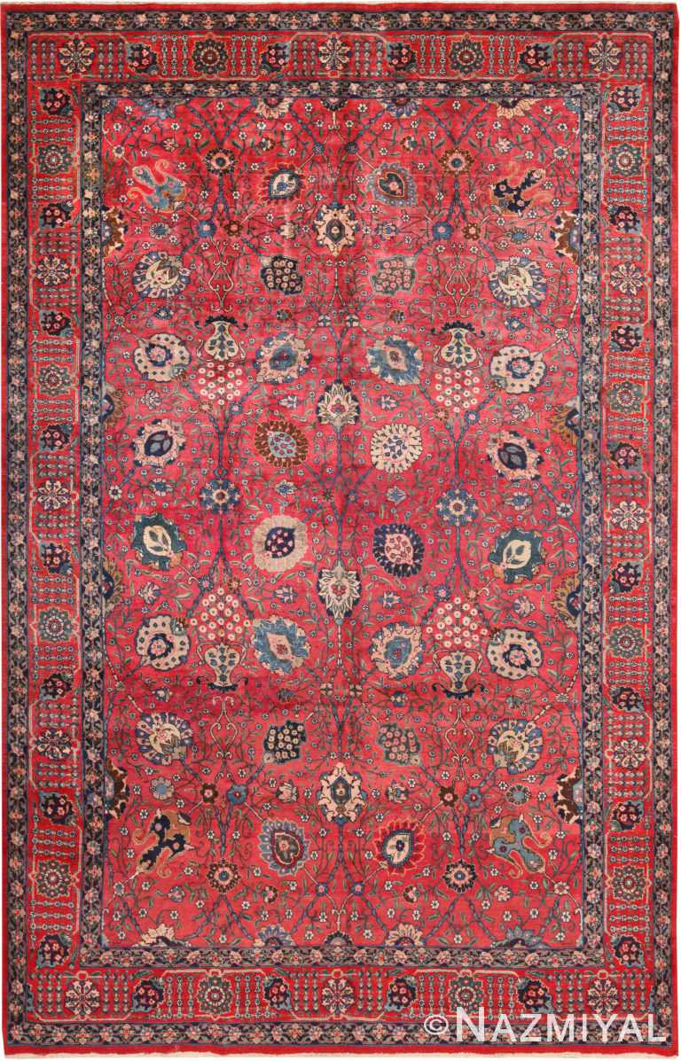 Vase Design Vintage Persian Tabriz Rug 70933 by Nazmiyal Antique Rugs