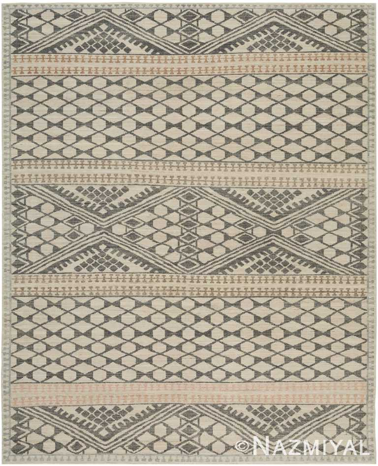 Beige Charcoal Geometric Modern Boutique Area Rug 60741 by Nazmiyal Antique Rugs