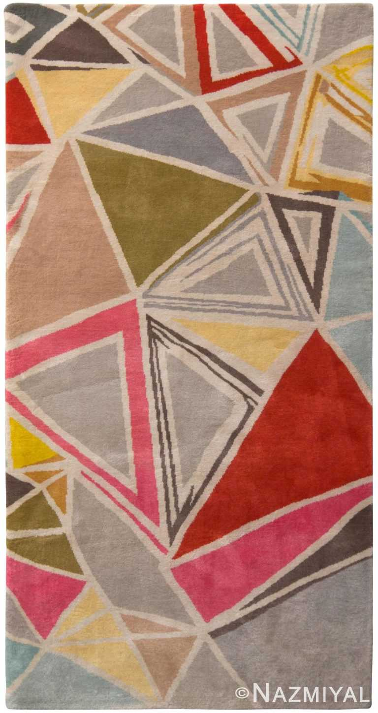 Colorful Mid Century Modern Rug 60751 by Nazmiyal Antique Rugs