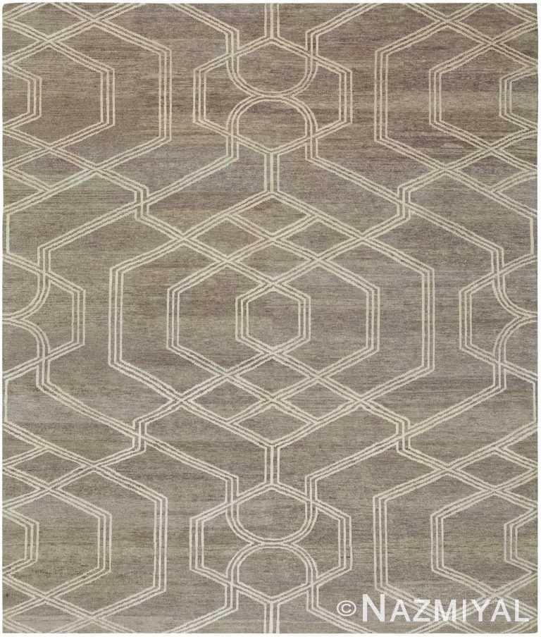Decorative Geometric Grey Modern Boutique Rug 60731 by Nazmiyal Antique Rugs
