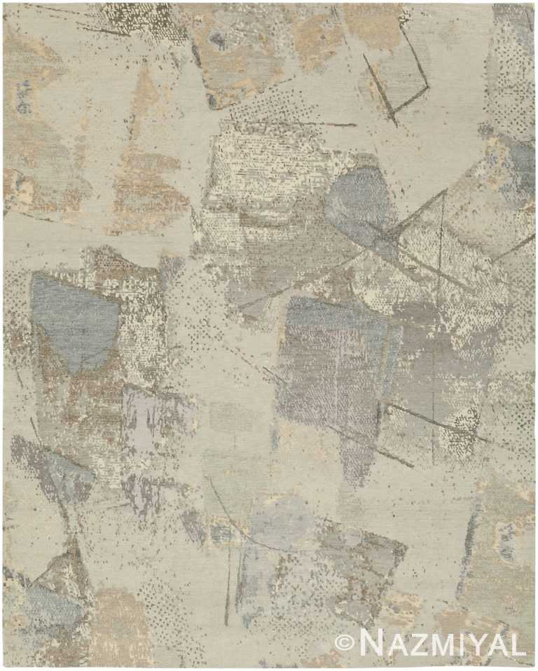 Decorative Nature Tones Modern Boutique Area Rug 60728 by Nazmiyal Antique Rugs