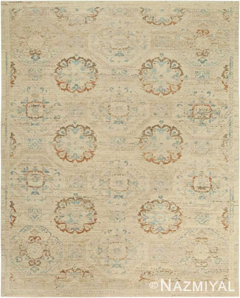Geometric Beige Rust Modern Boutique Rug 60736 by Nazmiyal Antique Rugs