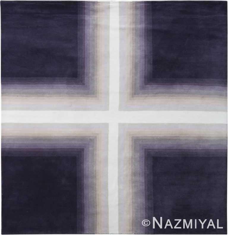 Geometric Purple Mid Century Modern Rug 60767 by Nazmiyal Antique Rugs