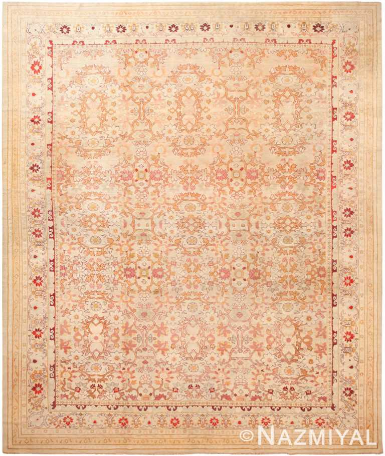 Large Decorative Antique Indian Agra Rug 70937 by Nazmiyal Antique Rugs