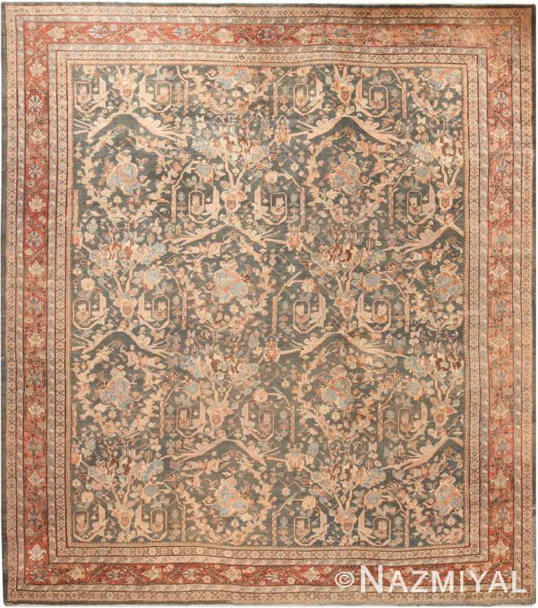 Mostofi Design Antique Persian Sultanabad Rug 70939 by Nazmiyal Antique Rugs