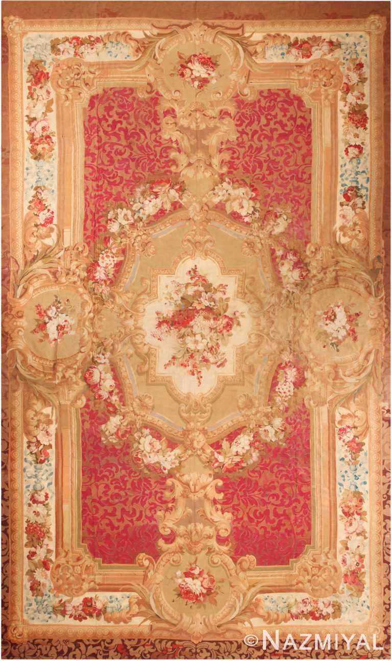 Oversized Antique French Aubusson Rug 70926 by Nazmiyal Antique Rugs