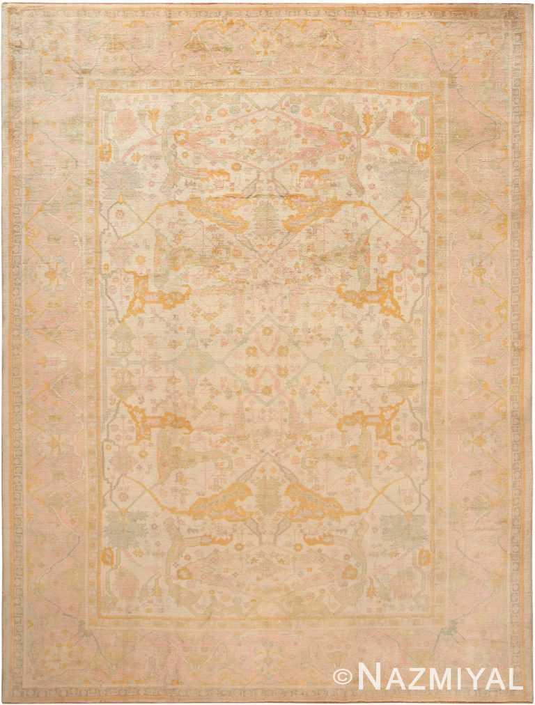 Antique Turkish Oushak Area Rug 70883 by Nazmiyal Antique Rugs