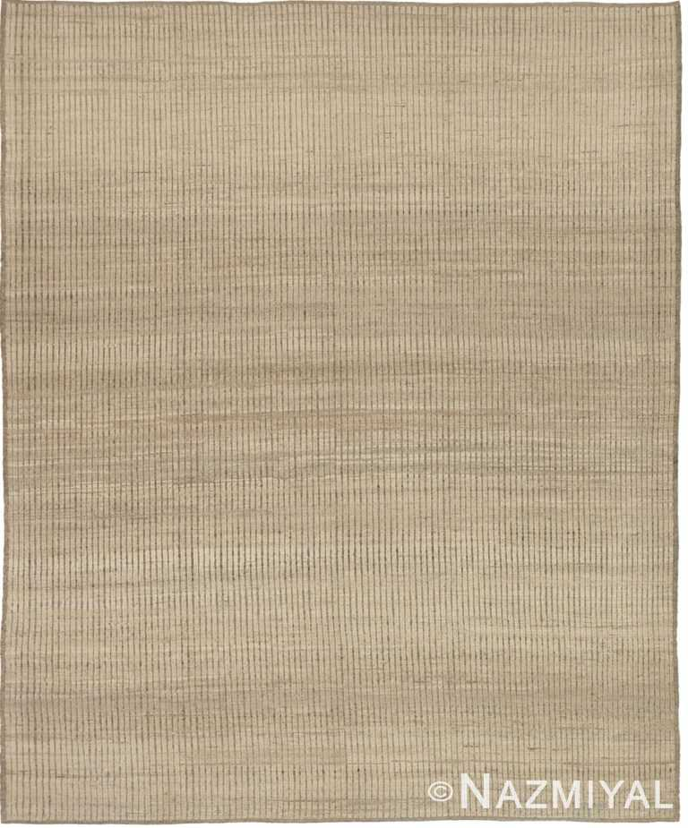 Soft Neutral Textured Modern Distressed Rug #60827 by Nazmiyal Antique Rugs