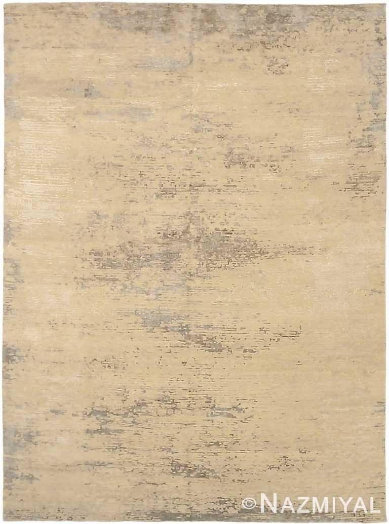 Beige Modern Distressed Rug 60785 by Nazmiyal Antique Rugs