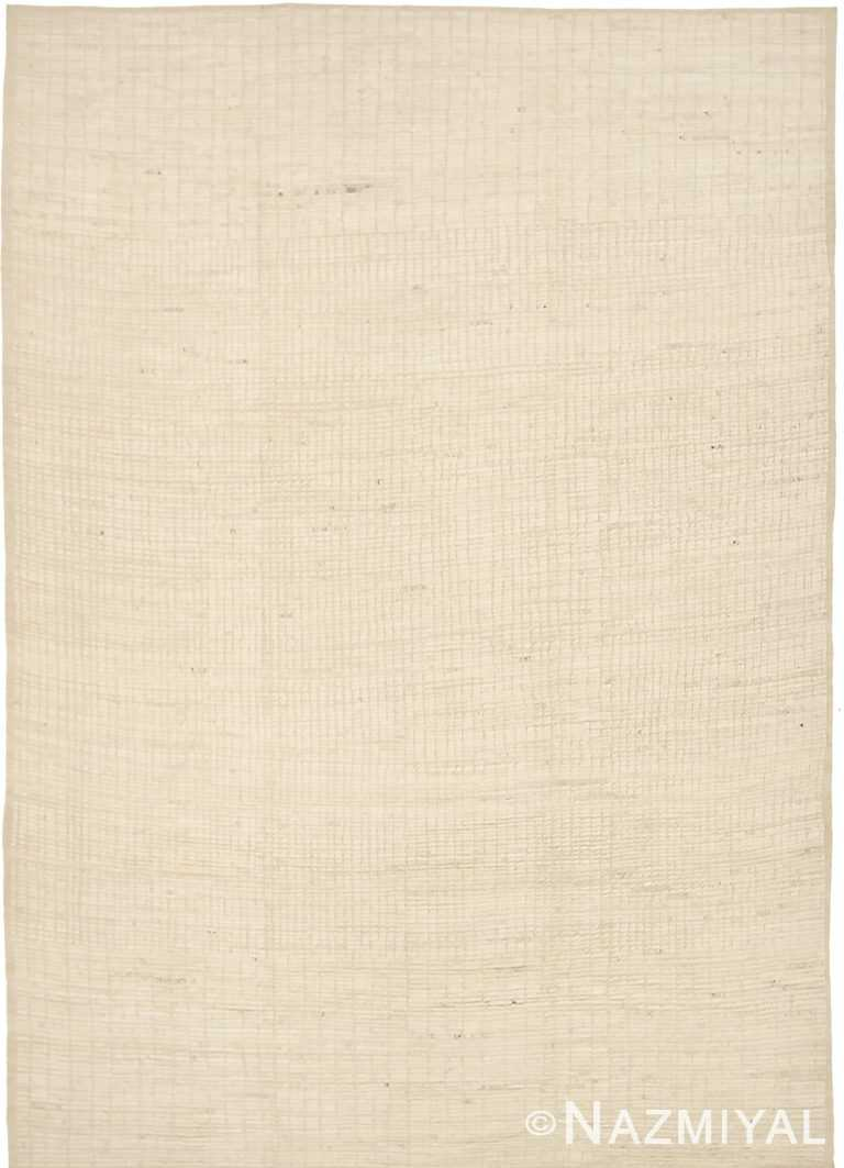 Caramel Color Textured Modern Distressed Rug 60824 by Nazmiyal Antique Rugs